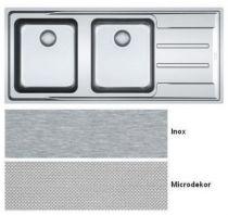 evier 2 cuves aton anx221 1164 x 514 avec gouttoir droite inox franke r f 758029. Black Bedroom Furniture Sets. Home Design Ideas