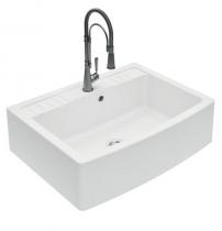 Evier à poser 1 cuve Clotaire 89.8x66.1cm Blanc - LUISINA Réf. EV9530006