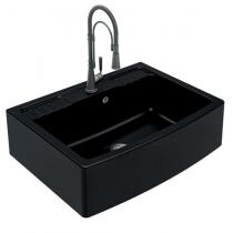 Evier à poser 1 cuve Clotaire 89.8x66.1cm Noir - LUISINA Réf. EV9530009
