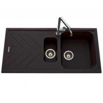 Evier réversible 1 cuve 1/2 Arpège 100x50cm Luisigranit Full black - LUISINA Réf. EV3511219