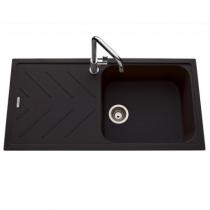 Evier réversible 1 cuve Arpège 100x50cm Luisigranit Full Black - LUISINA Réf. EV35011219