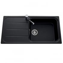Evier réversible 1 cuve Fugue 100x50cm Luisigranit Full Black - LUISINA Réf. EV39011219