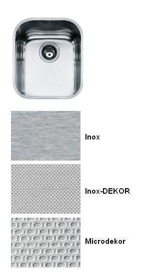Evier sous plan 1 cuve Armonia AMT110-34 370 x 430 vidage automatique Inox - FRANKE Réf. 000335