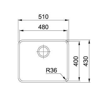 Evier sous plan 1 cuve aton anx110 48 510 x 430 inox franke r f 758531 - Evier sous plan franke ...