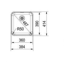 Evier sous plan 1 cuve Largo LAX110-36 385 x 415 Inox - FRANKE Réf. 102312