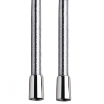 Flexible Silver anti-torsion 50cm Chromé - GRB Réf. 050032