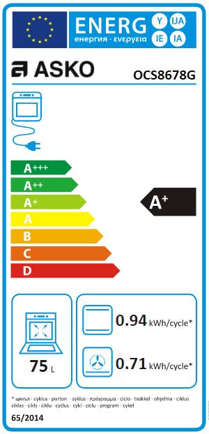 Four combiné vapeur 75l A+ Soft Black effet nacré - ASKO Réf. OCS8678G