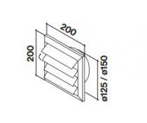Grille d\'évacuation diamètre 150mm - FALMEC Réf. 125019 / KACL348