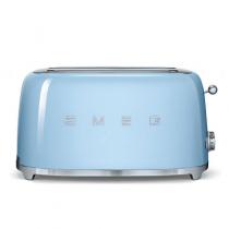 Grille pain 4 tranches Années 50 Bleu Azur - SMEG Réf. TSF02PBEU