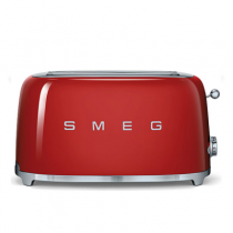 Grille pain 4 tranches Années 50 Rouge - SMEG Réf. TSF02RDEU