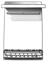 Habillage arrière inox avec support ustensiles pour ensemble fourneau/hotte - LACANCHE Réf. LCHD2200