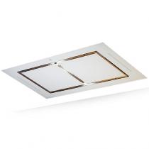 Hotte de plafond Confidence 100cm sans moteur verre Blanc - ROBLIN Réf. 6209264