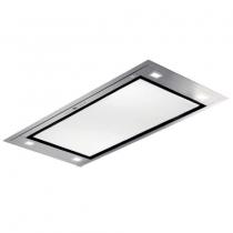 Hotte de plafond Inspiration 100cm 839m3/h Inox / verre Blanc - ROBLIN Réf. 6209273
