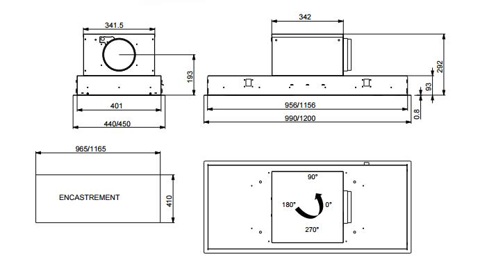hotte de plafond inspiration 120cm sans moteur inox roblin r f 6209272. Black Bedroom Furniture Sets. Home Design Ideas