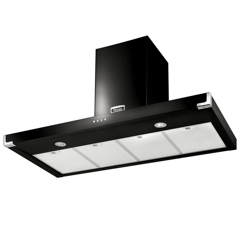 hotte d corative falcon semi professionnel ultra plate noir fhdsf1100bl c 110cm 780m3 h. Black Bedroom Furniture Sets. Home Design Ideas