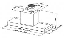 Hotte encastrée In-Nova Smart 60cm 360m3/h Inox - FABER Réf. 5606493