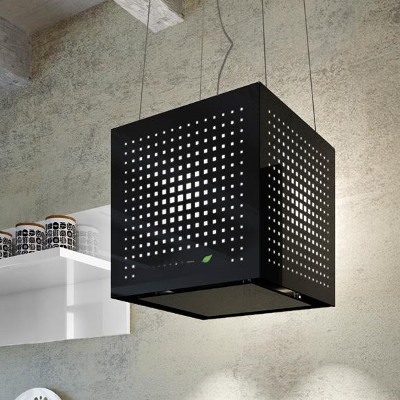 hotte lot suspendue rubik e ion 43 cm 450m3 h noir. Black Bedroom Furniture Sets. Home Design Ideas