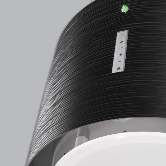 hotte lot suspendue twister e ion 45cm 450m3 h noir. Black Bedroom Furniture Sets. Home Design Ideas