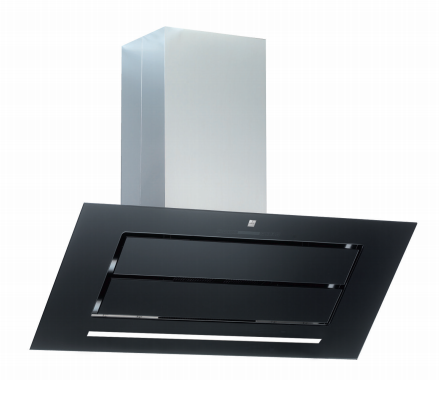 hotte inclin e vizio 110cm sans moteur verre noir roblin. Black Bedroom Furniture Sets. Home Design Ideas