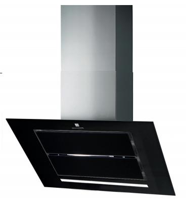 hotte inclin e vizio 90cm 760m3 h verre noir roblin r f 6042271. Black Bedroom Furniture Sets. Home Design Ideas