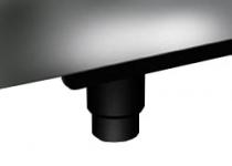 Kit 4 pieds noirs pour modifier la hauteur des centres de cuisson Portofino de 90 cm à 95 cm  - SMEG Réf. KITPD