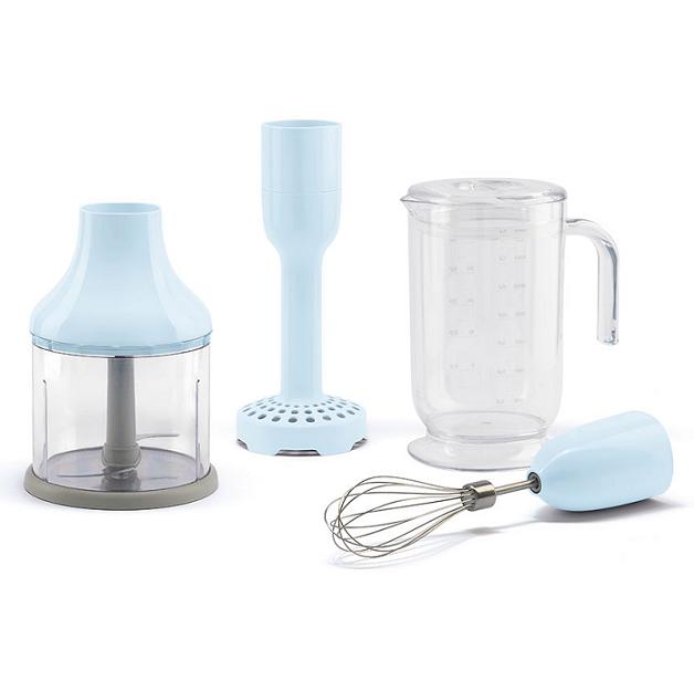 Kit de 4 accessoires pour mixeur plongeant Années 50 Bleu Azur - SMEG Réf. HBAC01PB