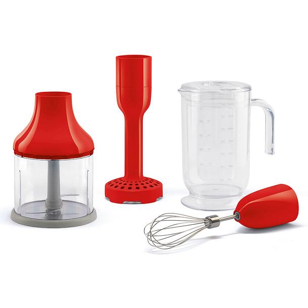 Kit de 4 accessoires pour mixeur plongeant Années 50 Rouge - SMEG Réf. HBAC01RD
