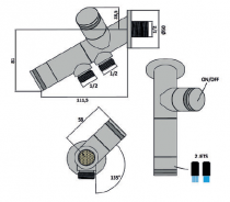 Kit hygiénique magnétique Tropic Chromé - PAINI Réf. 28CR01