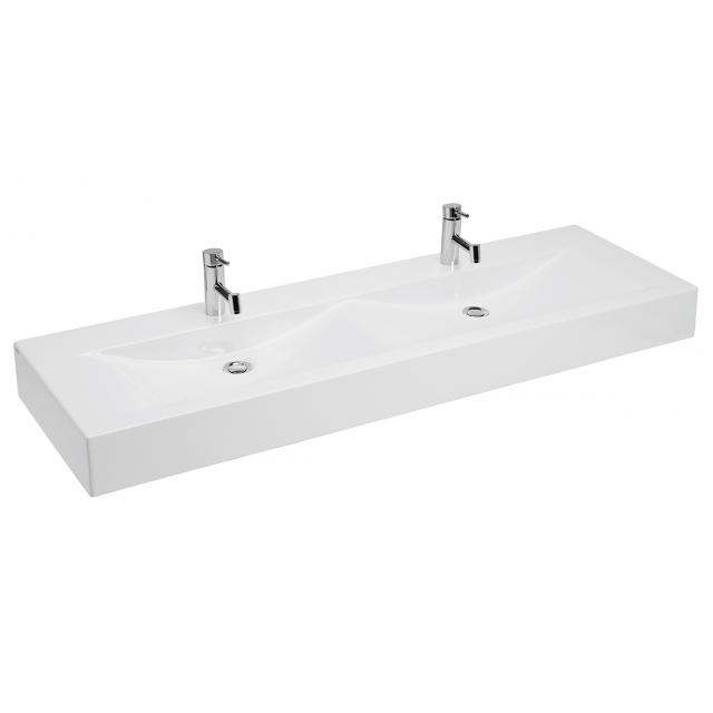 lavabo double plan 150x47cm perc 2x 1 trou blanc sanindusa r f 108830. Black Bedroom Furniture Sets. Home Design Ideas