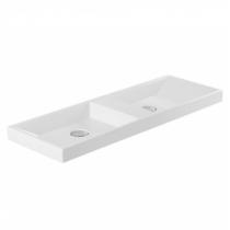Lavabo double Vista 100cm Blanc - SANINDUSA Réf. 109460004