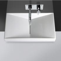 Lavabo Flux 65.5x39cm Blanc - SANINDUSA Réf. 109750