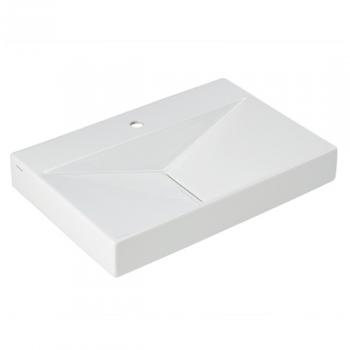Lavabo Flux 65x45cm Percé 1 trou Blanc - SANINDUSA Réf. 109700