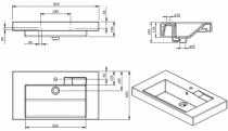 Lavabo Linha 80.5x45m Percé 1 trou Blanc - SANINDUSA Réf. 108900