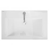 Lavabo Plan 75x47.5cm Blanc - SANINDUSA Réf. 108810