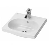 Lavabo WCKids 43x37.5cm percé 1 trou Blanc avec trou pour accessoires - SANINDUSA Réf. 125310