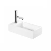 Lave-mains Note 36cm percé 1 trou Blanc - SANINDUSA Réf. 108100004