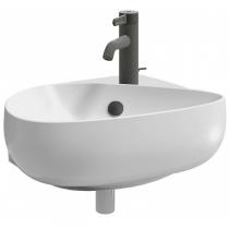 Lave-mains Nouvelle Vague 45cm percé 1 trou Blanc - JACOB DELAFON Réf. EGK112-00