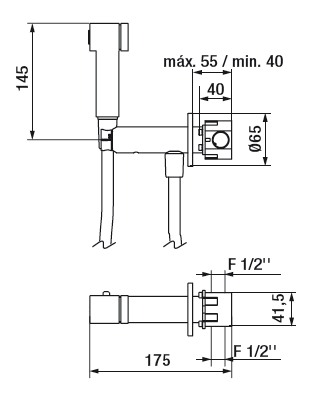 Mélangeur Intimixer Progressif Chromé avec accessoires Rondo - GRB Réf. 08226100