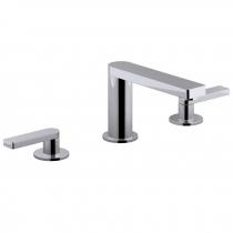 Mélangeur lavabo 3 trous Composed poignées Lever Titanium - JACOB DELAFON Réf. E73060-4-TT