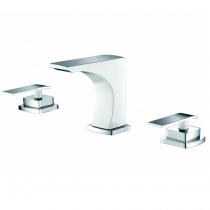 Mélangeur lavabo 3 trous Maestro Chromé / Blanc - O\'DESIGN Réf. MAE103B