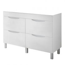 Meuble à poser Beluga 120cm 4 tiroirs Blanc - OZE Réf. CAISBELUGA1200B