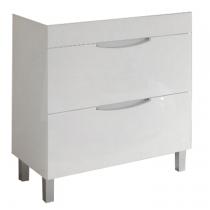 Meuble à poser Beluga 80cm 2 tiroirs Blanc - OZE Réf. CAISBELUGA800B