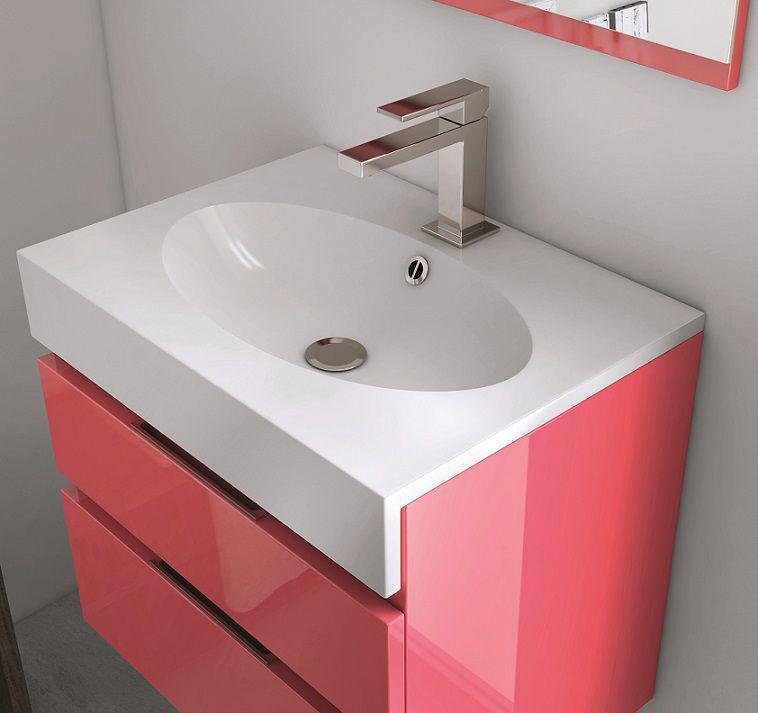 meuble decotec ego ste 55cm 1 tiroir 2 portes laque ou. Black Bedroom Furniture Sets. Home Design Ideas
