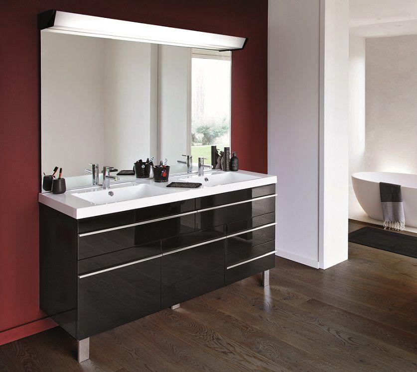 meuble decotec rivoli 150cm 4 tiroirs 2 portes gauche plan vasque double c ramyl blanc. Black Bedroom Furniture Sets. Home Design Ideas