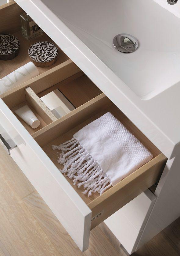 Meuble decotec rivoli 75cm 3 tiroirs plan vasque c ramyl - Meuble decotec rivoli ...