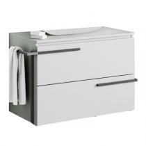 Meuble pour double vasque suspendu Cimon 120cm 2 tiroirs Blanc - O\'DESIGN Réf. CAISCIMON1200B