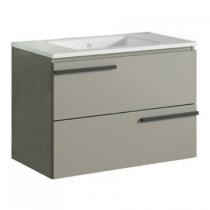 Meuble pour double vasque suspendu Cimon 120cm 2 tiroirs Quarzo - O\'DESIGN Réf. CAISCIMON1200Q
