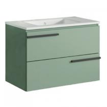Meuble pour double vasque suspendu Cimon 120cm 2 tiroirs Vert musgo - O\'DESIGN Réf. CAISCIMON1200VM