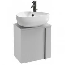 Meuble sous lave-mains Nouvelle Vague 45cm version droite 1 porte mélaminé Blanc brillant - JACOB DELAFON Réf. EB3045D-N18