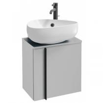 Meuble sous lave-mains Nouvelle Vague 45cm version gauche 1 porte mélaminé Blanc brillant - JACOB DELAFON Réf. EB3045G-N18